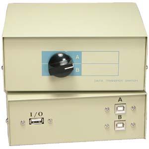 DS290103 USB 2 Way Manual Switch Box Ax1Bx2