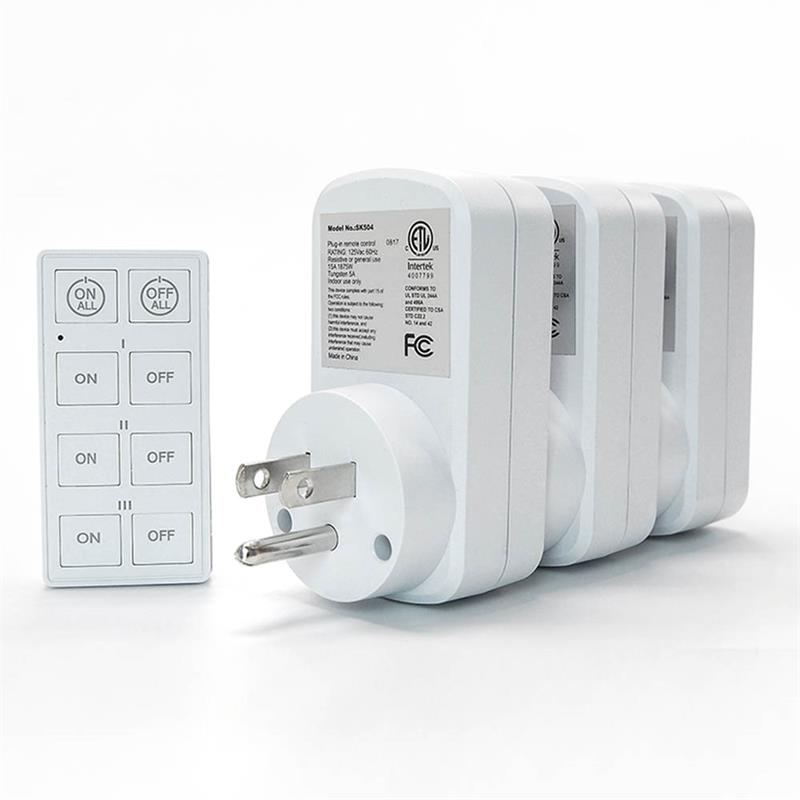 rcss3 plug in remote control power socket 3 sockets remote. Black Bedroom Furniture Sets. Home Design Ideas